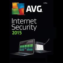 Antivirus Avg Internet Security 2015 Para 3 Pc + 3 Años