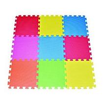 9-azulejo Multicolor Colchoneta De Ejercicio Espuma Sólida E