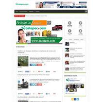 Sitio Web Profesional De Noticias Administrable.