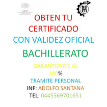 Certificado De Preparatoria