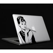Mac Macbook Laptop Sticker Audrey Hepburn Con Envío Gratis