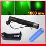 Apuntador Laser Verde 500mw Recargable Con Llave De Bloqueo