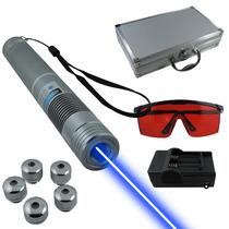 Apuntador Laser Azul 3000mw Revienta Globos Y Cigarros