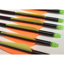 12 Flechas Fibra D Vidrio Puntas Intercambiables