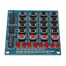 8 Led 4x4 Push Buttons Matrix Teclado Arduino