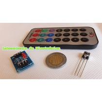 Kit Control Remoto Ir Infrarrojo + Receptor 38khz Arduino