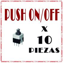 Push On Off Arduino Avr Atmel Pic Microchip!!! 10 Piezas¡¡¡
