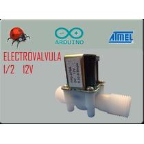 Electrovalvula 12 V, Electrovalvula 1/2, Valvula Agua, Ardui