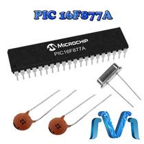 Microcontrolador Pic 16f877a + 2 Capacitores 22 + Cristal