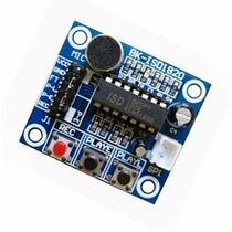 Módulo De Grabación De Voz Con Microfono Bk-isd1820, Arduino