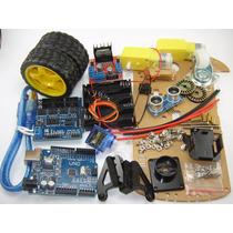 Kit De Lujo Para Auto Seguidor Inteligente Para Arduino