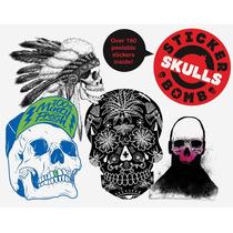 Libro Stickerbomb Skulls X Studio Rarekwai 180 Calcamonias!