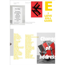 Libro I Love Type 05 - Gill Sans Tipografia Diseño Arte