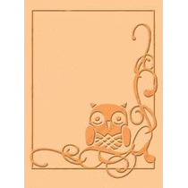 Scrapbook Cuttlebug Folder Para Repujado Owl Flourish