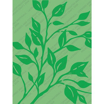 Scrapbook Cuttlebug Folder Para Repujado Leafy Branch
