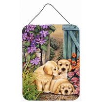 Los Cachorros De Labrador Amarillo Por Lesley Hallas Pared O