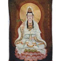Thangka Bodhi Gwan Yin/seda/tibet/meditar/decoración/yoga/fe