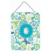 Letra O Flores Y Mariposas Del Trullo Azul De La Pared O Pue