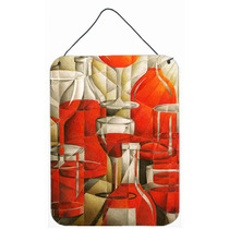 Botellas De Vino Rojo Y Gafas Pared O Puerta Colgando Impres