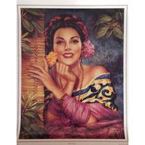 Belleza Criolla Poster Tradicional Mexicano Jesus Helguera