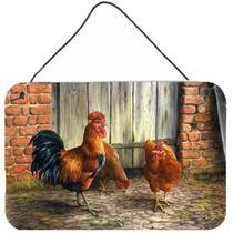 Gallo Y Pollos Por Daphne Baxter Pared O Puerta Colgante Imp