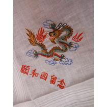 Pañuelo Oriental Tradicional Chino Dragon Bordado Vintage