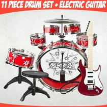 Toy Drum Set Guitarra Eléctrica Música Instrumentos Set De J