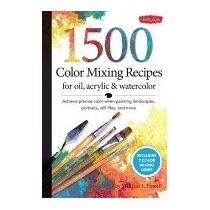 Libro 1,500 Color Mixing Recipes For Oil,, William F Powell