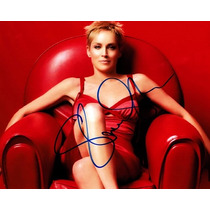 Autógrafo De Sharon Stone Foto 8x10 Con Certificado Coa