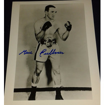 Fotografia Autografiada Firmada Gene Fullmer Box Boxeo