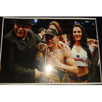 Poster Autografiado Firmado Juan Francisco Gallo Estrada Box