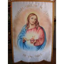 Sagrado Corazón Estandarte Pintado