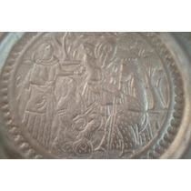 Plato Metalico Dorado Antiguo Retro Vintage De Coleccion
