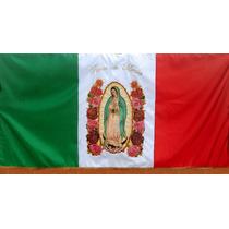 Bandera Virgen De Guadalupe Bordado Fino