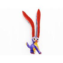 Alebrije Conejo Azul Y Morado