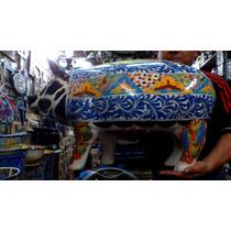 Alcancia Tipo Talavera De 75cm Decorada En Colores