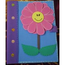 Libreta Decorada Con Foamy Tamaño Profesional (figura Flor)