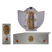 Virgen De Guadalupe Casulla, Mantel Y Cubre Ambon Paquete