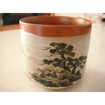 Vaso Para Sake Oriental Japones Con Paisaje Cafe Licor