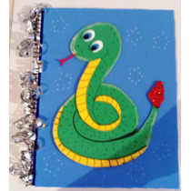 Libreta Decorada T Profesional (figura Serpiente) Manualidad