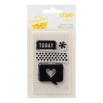 Stamp - Paquete De 4 American Crafts Hoy Cortar Y Pegar