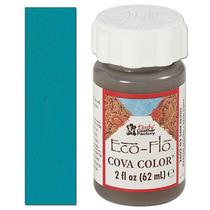 Pintura Cuero - Eco-flo Cova Color 2oz Turquesa Color