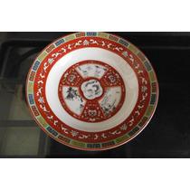Plato Oriental Porcelana Taiwan Antiguo Dragon Tradicional