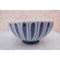 Plato Tazón Arroz Oriental Porcelana Azul Japon Restaurant