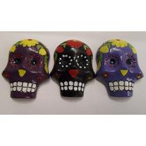Imanes Ceramica Calaveras Halloween Dia De Muertos
