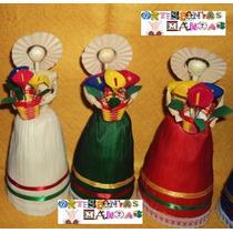 Muñeca De Hoja De Maiz Artesania Tipica Regalo Folklorica