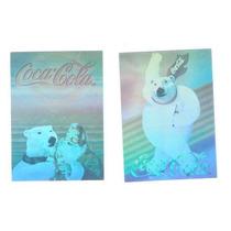 2cartitas De Osos Coca Cola Transparentes Del 1994