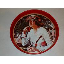 Coca-cola Charola Metálica De Colección Estilo Retro Vintage