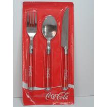 Cubiertos Coca Cola Cuchara Tenedor Y Cuchillo Drecuerdo