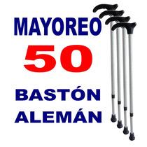 Mayoreo Baston Aleman 50 X 54.45 C/u - Economico Aluminio